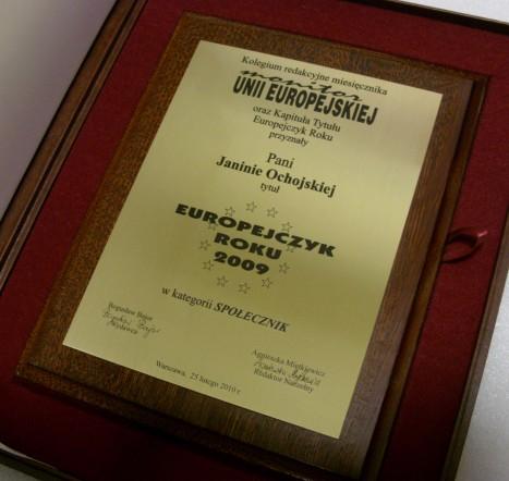 Dyplom grawerowany w laminacie metalizowanym na desce dębowej w etui