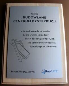 Dyplom grawerowany w aluminium anodowanym na desce