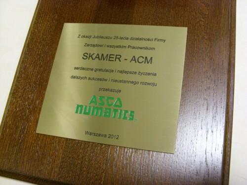 Dyplom grawerowany w mosiądzu złotym na desce drewnianej