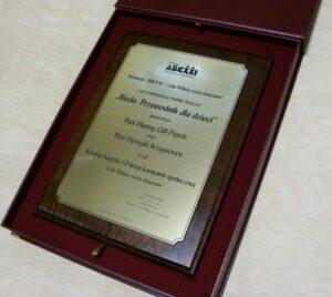 Dyplom grawerowany w laminacie metalizowanym