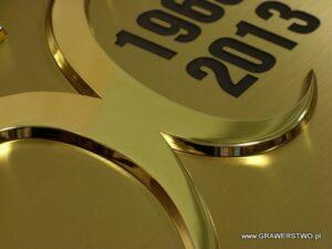 Nakladka złocona na dyplom