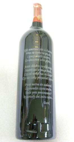 Butelka wina - grawerunek laserowy