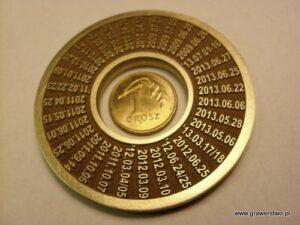 Trwały grawerunek laserowy - pierścień złoty