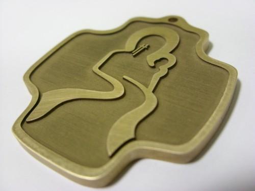 Model mosiężny- grawerowany laserowo głęboko