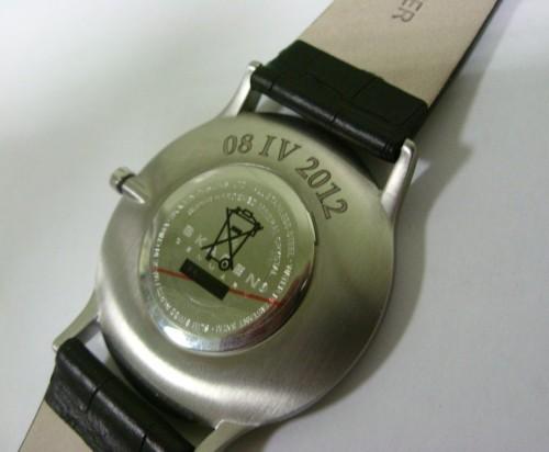 Koperta zegarka - grawerowana laserowo