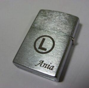 Zapalniczka grawerowana - grawerowanie laserowe