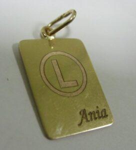 Blaszka złota z grawerunkiem laserowym ( Legia Warszawy )