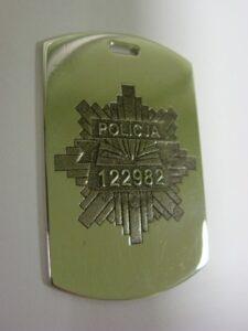 Grawerowanie laserowe - odznaka policyjna