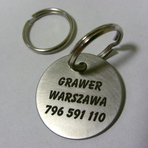 Grawerowany identyfikator dla psa w sali nierdzewnej