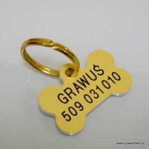 Aluminiowy identyfikator dla psa - grawerowany laserowo