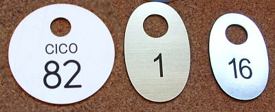Numerki grawerowane z laminatu LZ 991