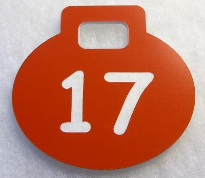 Numerek grawerowany z laminatu LZ 907