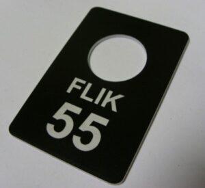 Brelok grawerowan z plexi czarna 3 mm