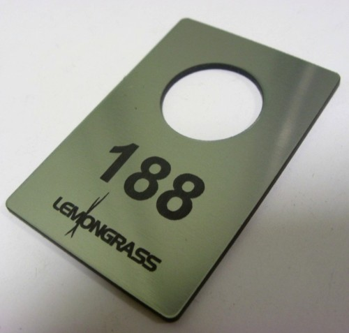 Numerek grawerowany z laminatu lz 314