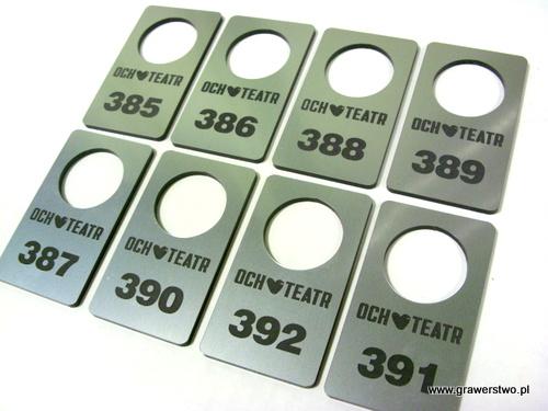 Numerki grawerowane z laminatu lz 314 gr 3 mm
