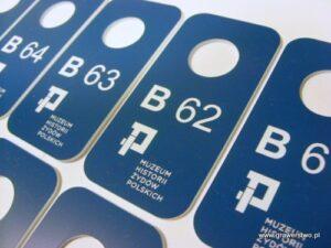 Grawerowane numerki do szatni z laminatu LZ 904