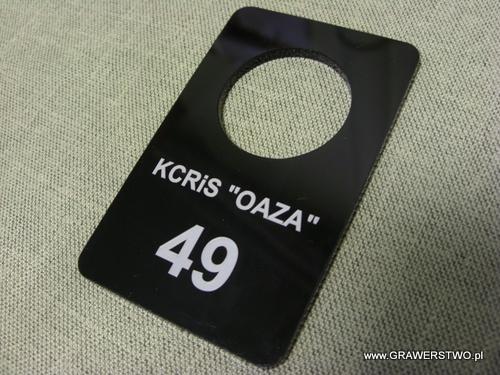 Numerek grawerowany - plexi czarne 3 mm