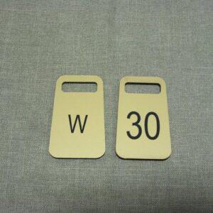 Numerki grawerowane z laminatu LZ 990