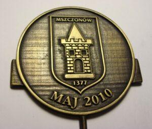 Medal patynowany  rozmiar 100 mm grafika wypukła