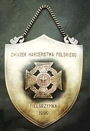 Ryngraf grawerowany - nakładany krzyż harcerstwa polskiegpo