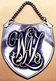 Ryngraf mosiężny - monogram  ażurowy nakładany