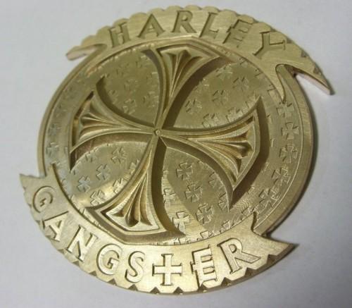 Emblemat mosiężny grawerowany laserowo