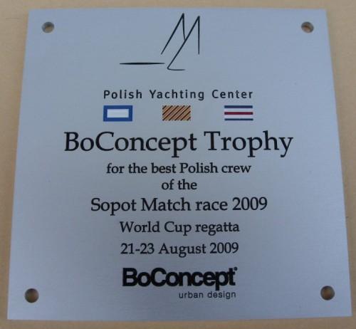 Tabliczka grawerowana wykonana z aluminium srebrny mat - grawerunek napuszczony farbą