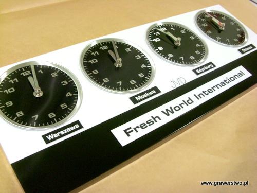 Tabliczka do zegara wykonana z laminatu