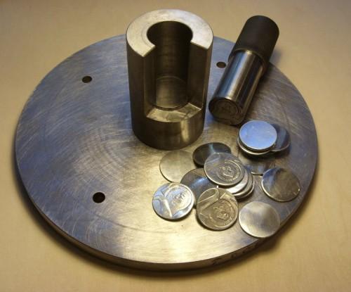 Stempel stalowy  do bicia monet okolicznościowych