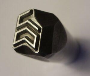 Cechownik stalowy grawerowany