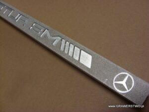 Listwa aluminiowa do produkcji tablic rejestracyjnych