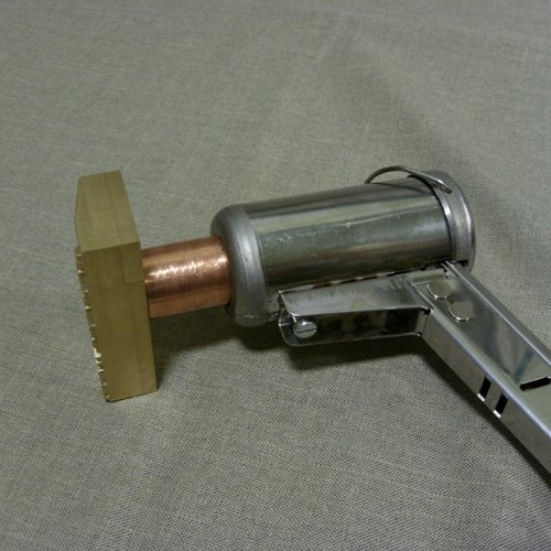Przykład mocowania stempla mosiężnego