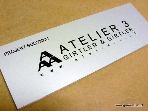 Szyld grawerowany - aluminium anodowane złoty mat