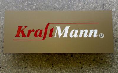 Szyld grawerowany - aluminium anodowane koniak mat