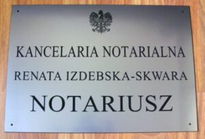 Szyld notarialny grawerowany - laminat lh 5155