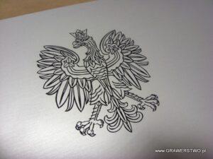 Godło Państwowe umieszczone na tablicy notarialnej