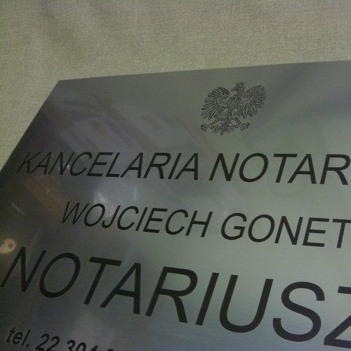 Tablica notarialna grawerowana w laminacie lzp 314 o rozmiarze 50x35 cm