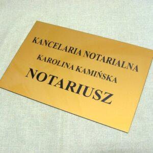 Tabliczka informacyjna notariusza wykonana z laminatu lz 992