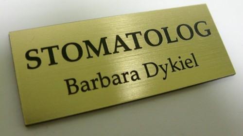 Tabliczka grawerowana wykonana z laminatu lz 990