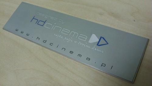 Tabliczka grawerowana wykonana z aluminium mat