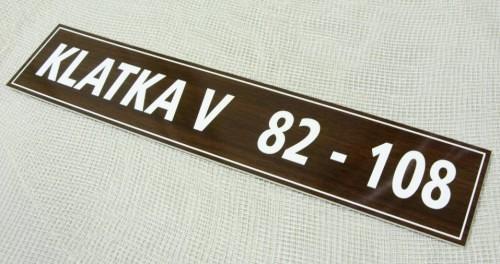 Tabliczka grawerowana wykonana z laminatu grawerskiego ws 140