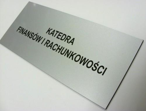 Tabliczka grawerowana wykonana z laminatu metalizowanego lz 991