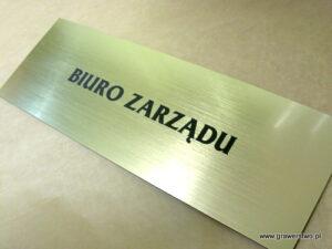 Tabliczka grawerowana wykonana z laminatu metalizowanego lz 990