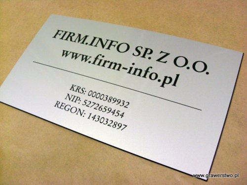Tabliczka grawerowane wykonana z laminatu metalizowanego lz 993