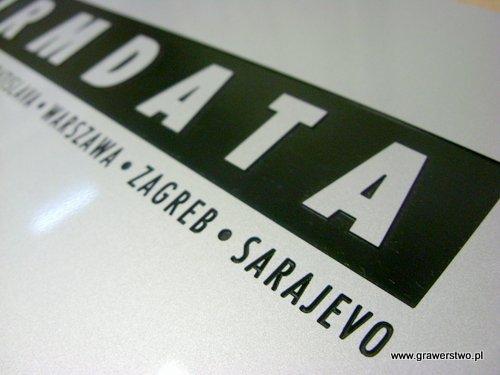 Tabliczka grawerowane wykonana z laminat metalizowany lz 993