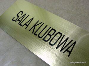 Tabliczka grawerowana z laminatu metalizowanego - złoty szlif lz 990