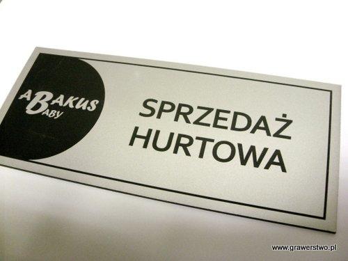 Tabliczka grawerowana z laminatu metalizowanego - srebrny  LZ 993