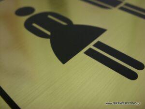 Piktogram grawerowany z laminatu metalizowanego lz 990