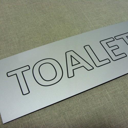 Tabliczka grawerowana z laminatu metalizowanego - srebrny  LZ 991