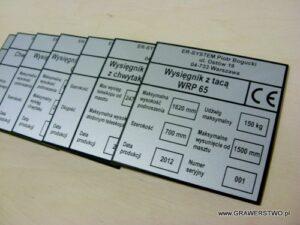 Tabliczki znamionowe grawerowane z laminatu lz 993